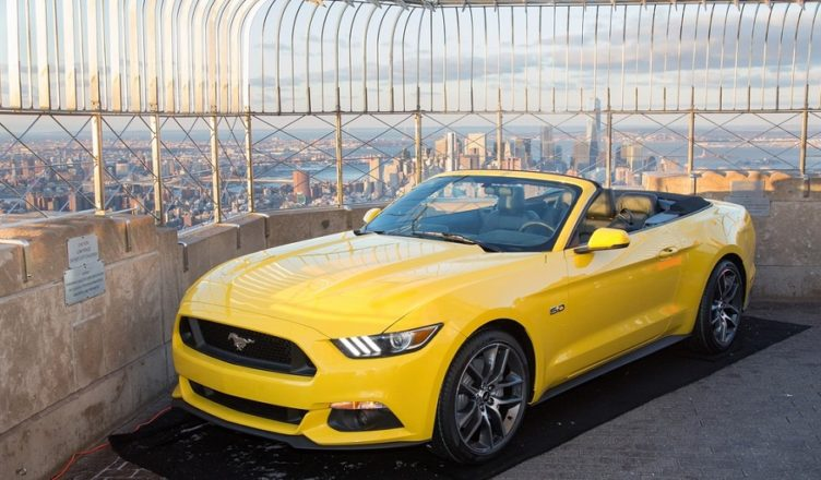 Ford Mustang on Empire State Building